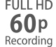 Full HD frame rates from 24p to 60p