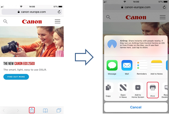 Apple AirPrint User Guide - Canon Europe