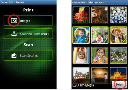 PIXMA Easy-PhotoPrint - Android Wireless and Mobile Printing
